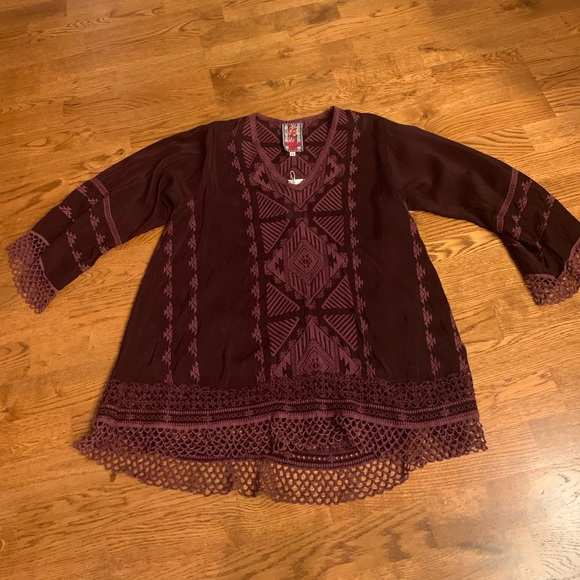 Johnny Was Tops - Johnny Was Burgundy Tunic